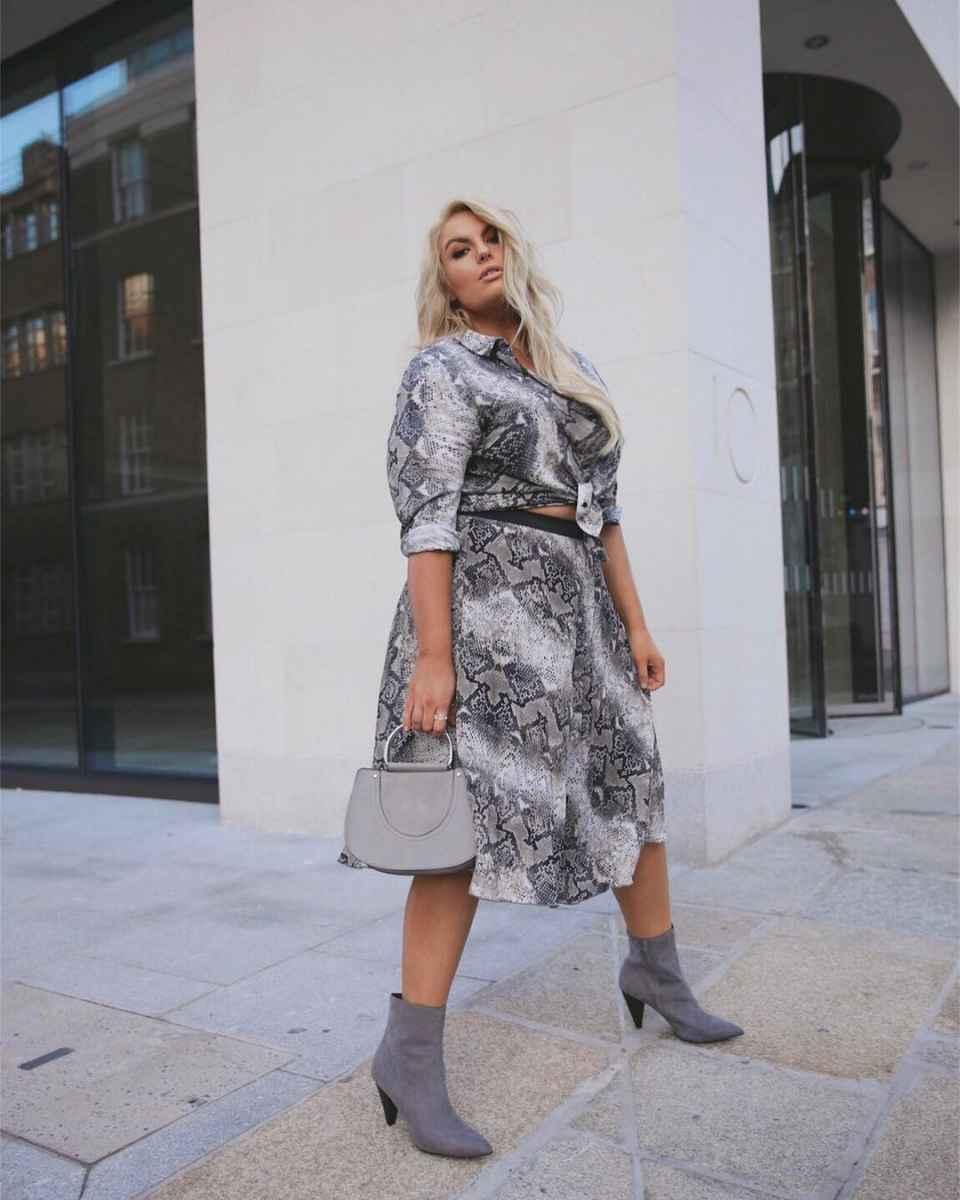 Модные луки для полных женщин лето 2019 фото_13