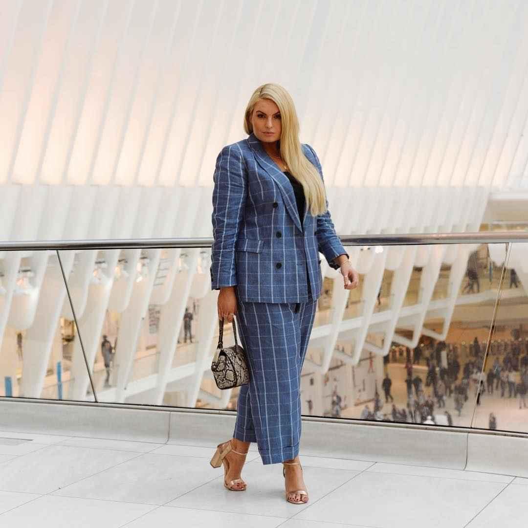 Модные луки для полных женщин лето 2019 фото_15