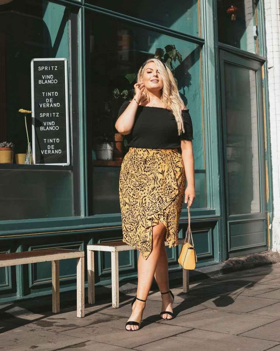 Мода для полных женщин лето 2019 фото идеи_21