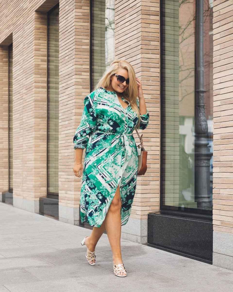 Мода для полных женщин лето 2019 фото идеи_22