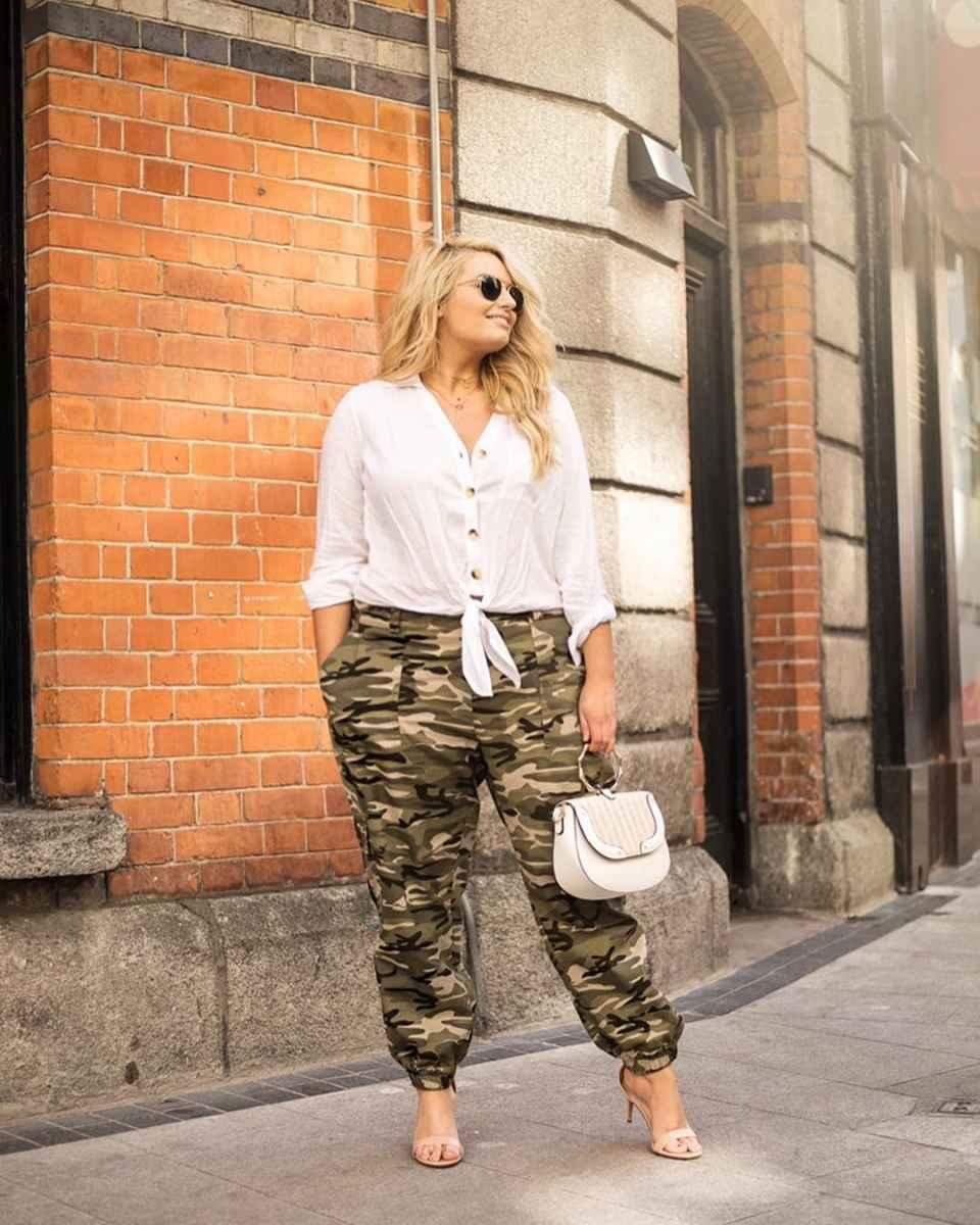 Модные луки для полных женщин лето 2019 фото_16