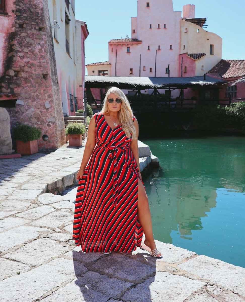 Модные луки для полных женщин лето 2019 фото_21