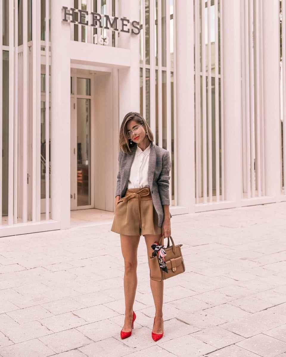 Модные шорты лето 2019 фото_16