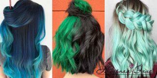 Зеленый цвет волос фото идеи