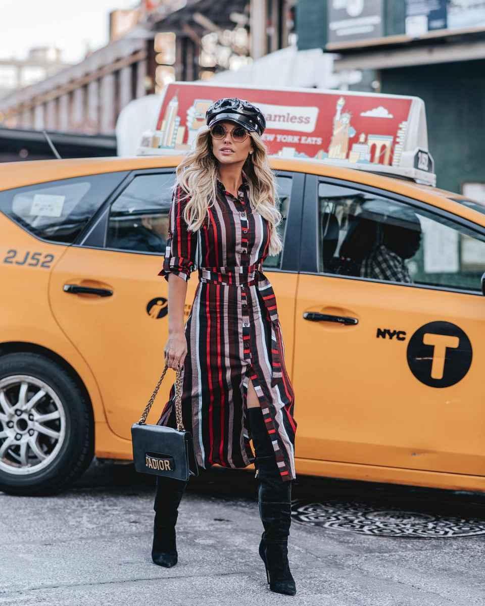 Модные платьяосень-зима 2019-2020 для женщин 30-40 лет фото_5