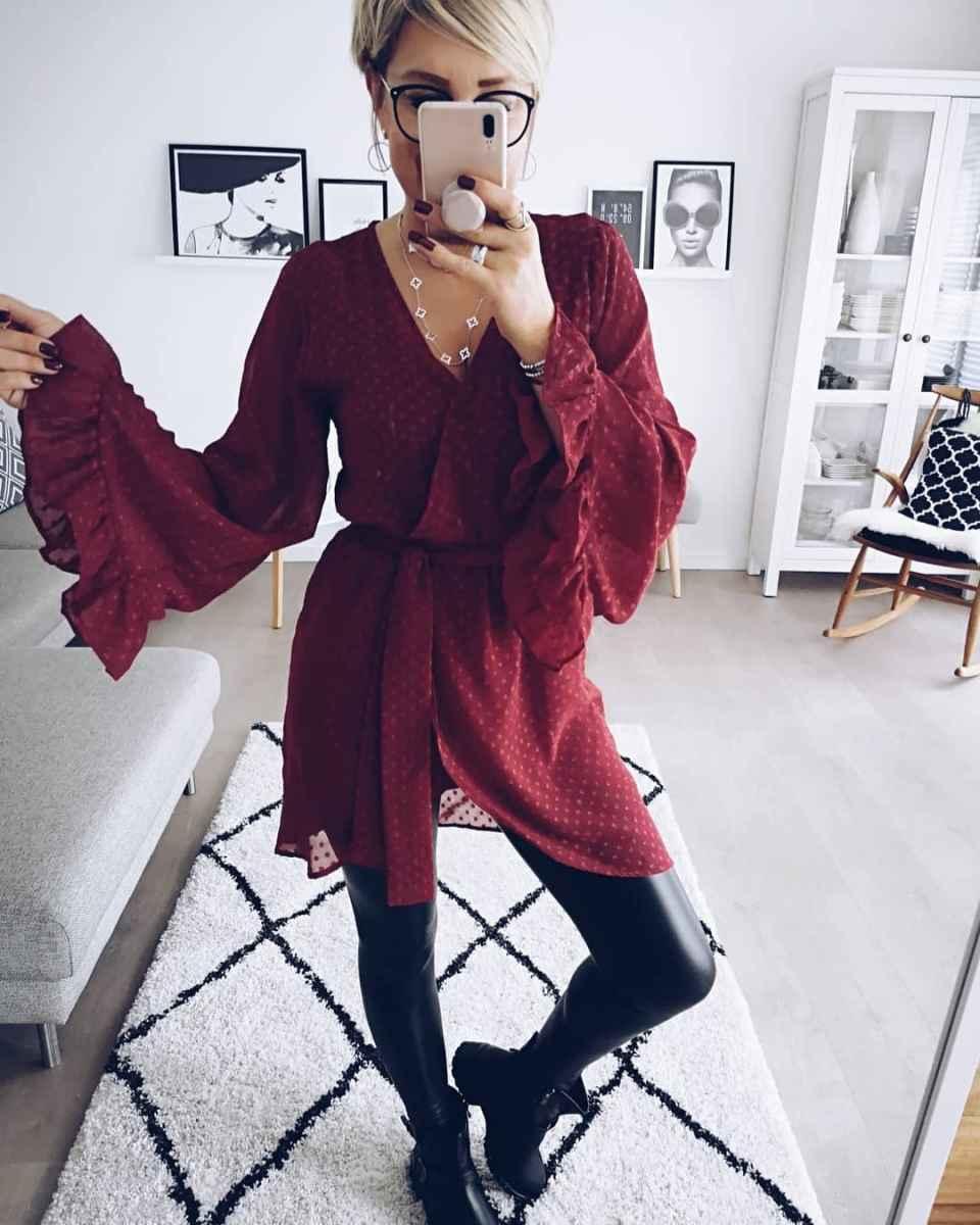 Модные платья для женщин 50 лет осень-зима 2019-2020 фото_12