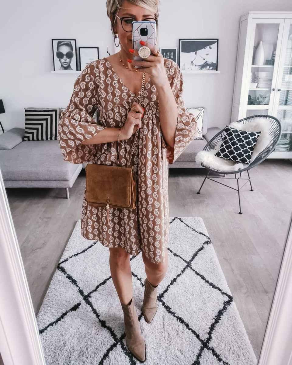 Модные платья для женщин 50 лет осень-зима 2019-2020 фото_4
