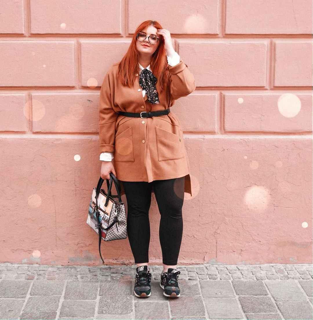 Модные образы для полных женщин фото_44