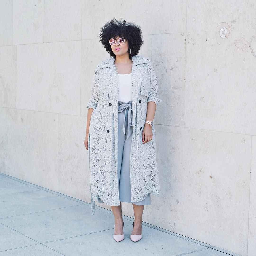 Модные образы для полных женщин фото_2
