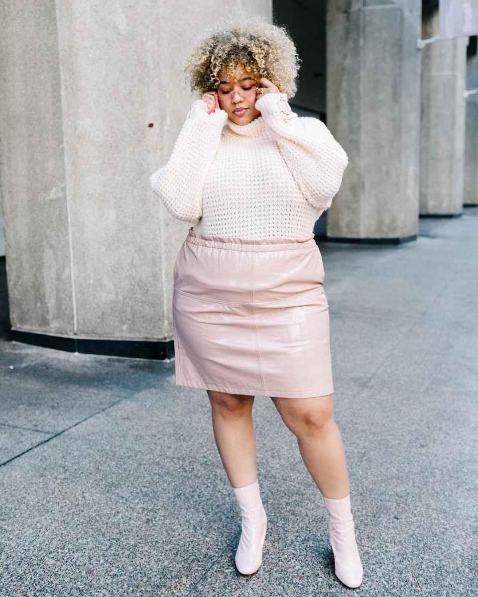 Модные образы для полных женщин фото_18