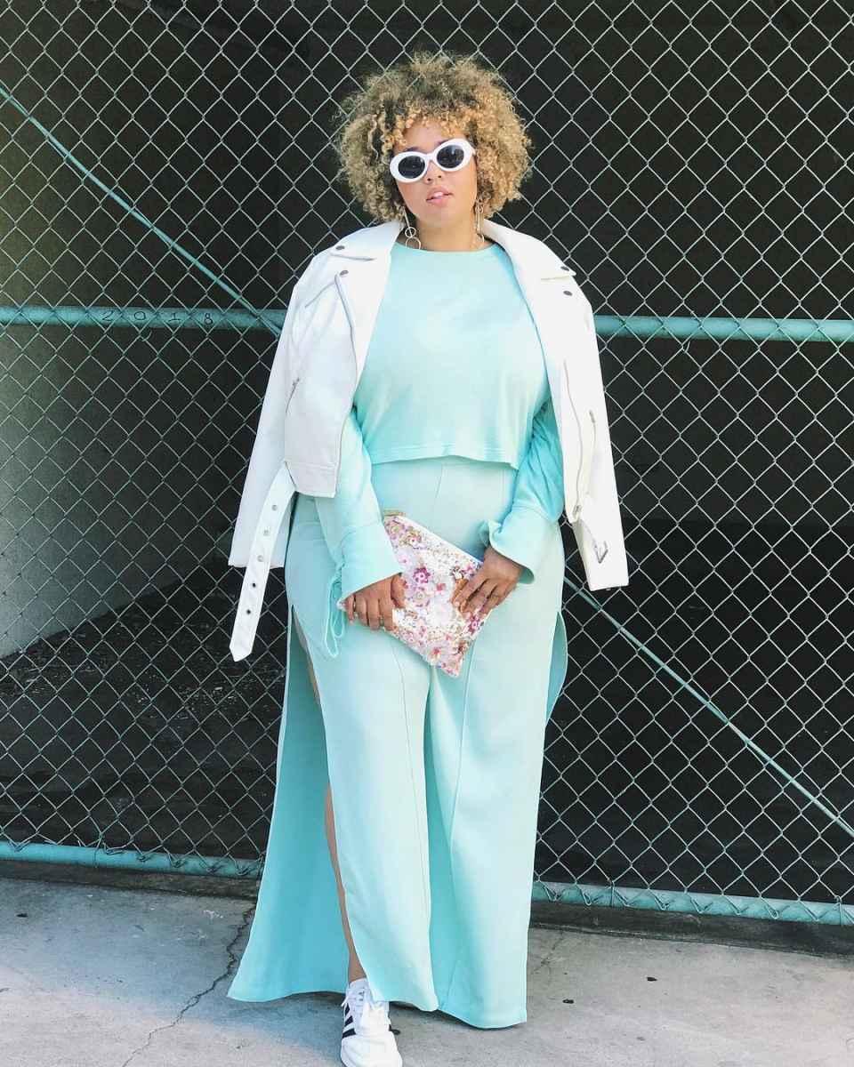 Модные образы для полных женщин фото_23