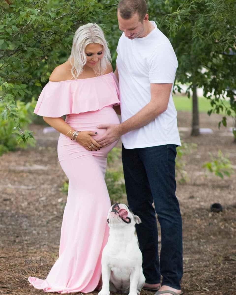Праздничные платья для беременных фото_26