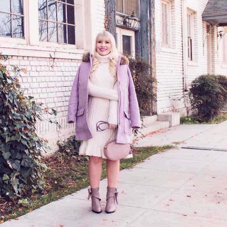 Модные платья для женщин 50 лет осень-зима 2019-2020 фото_51