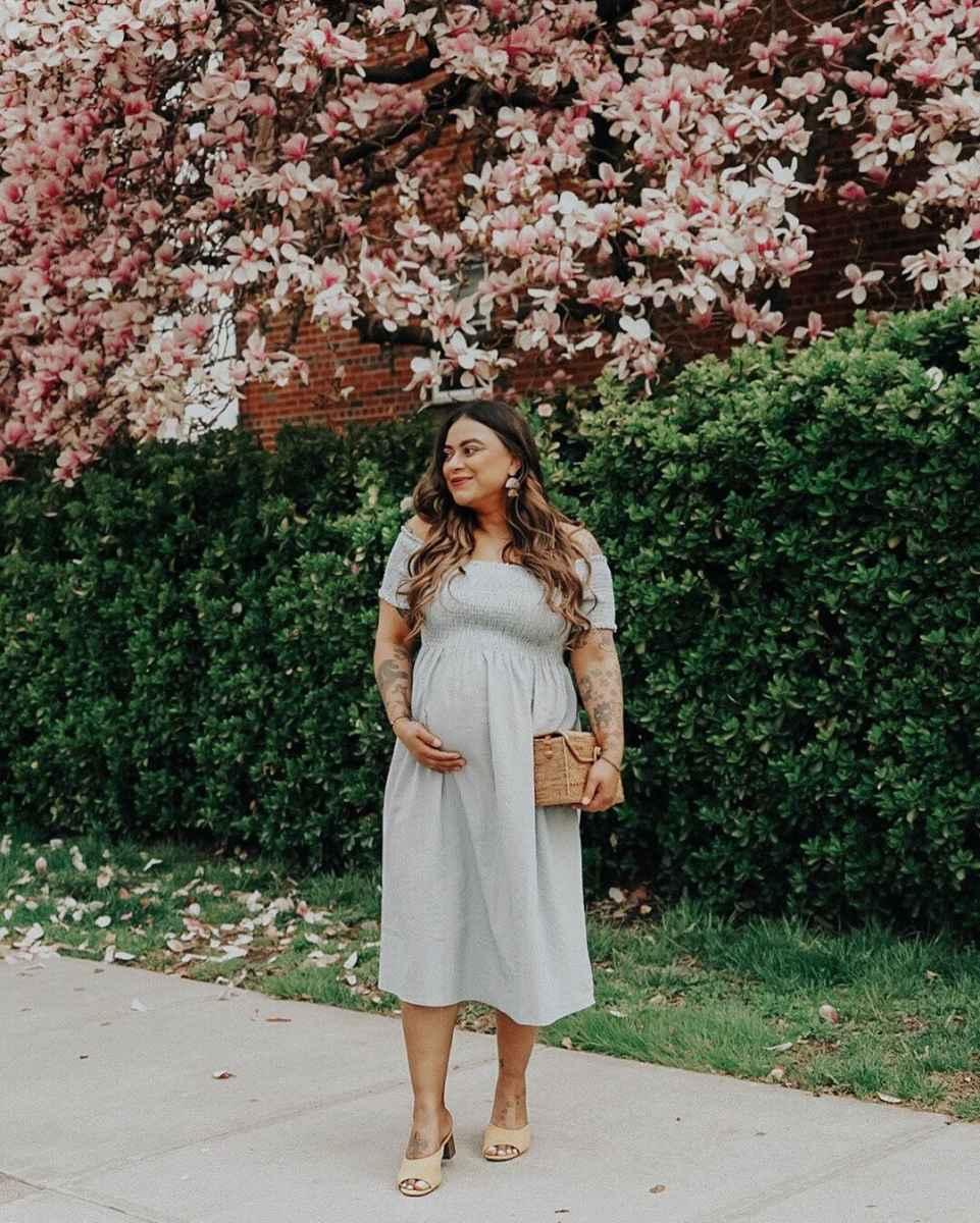 Праздничные платья для беременных фото_14