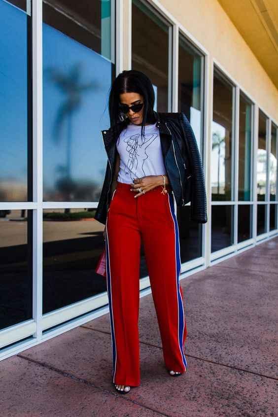 С чем носить брюки с лампасами фото_12