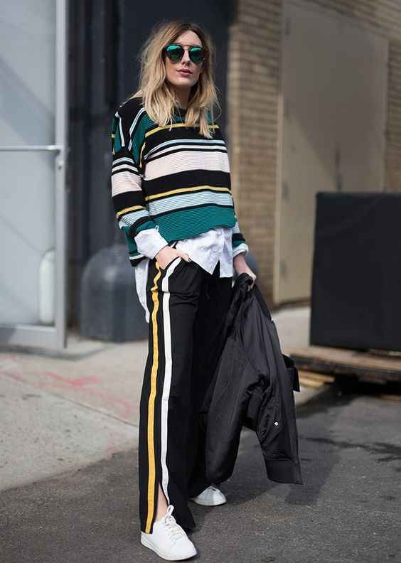 С чем носить брюки с лампасами фото_10