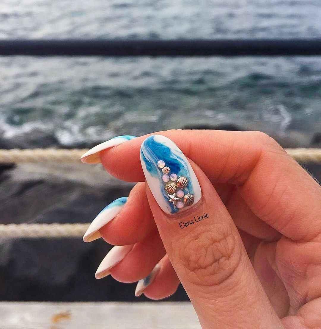 Море на ногтях фото_32