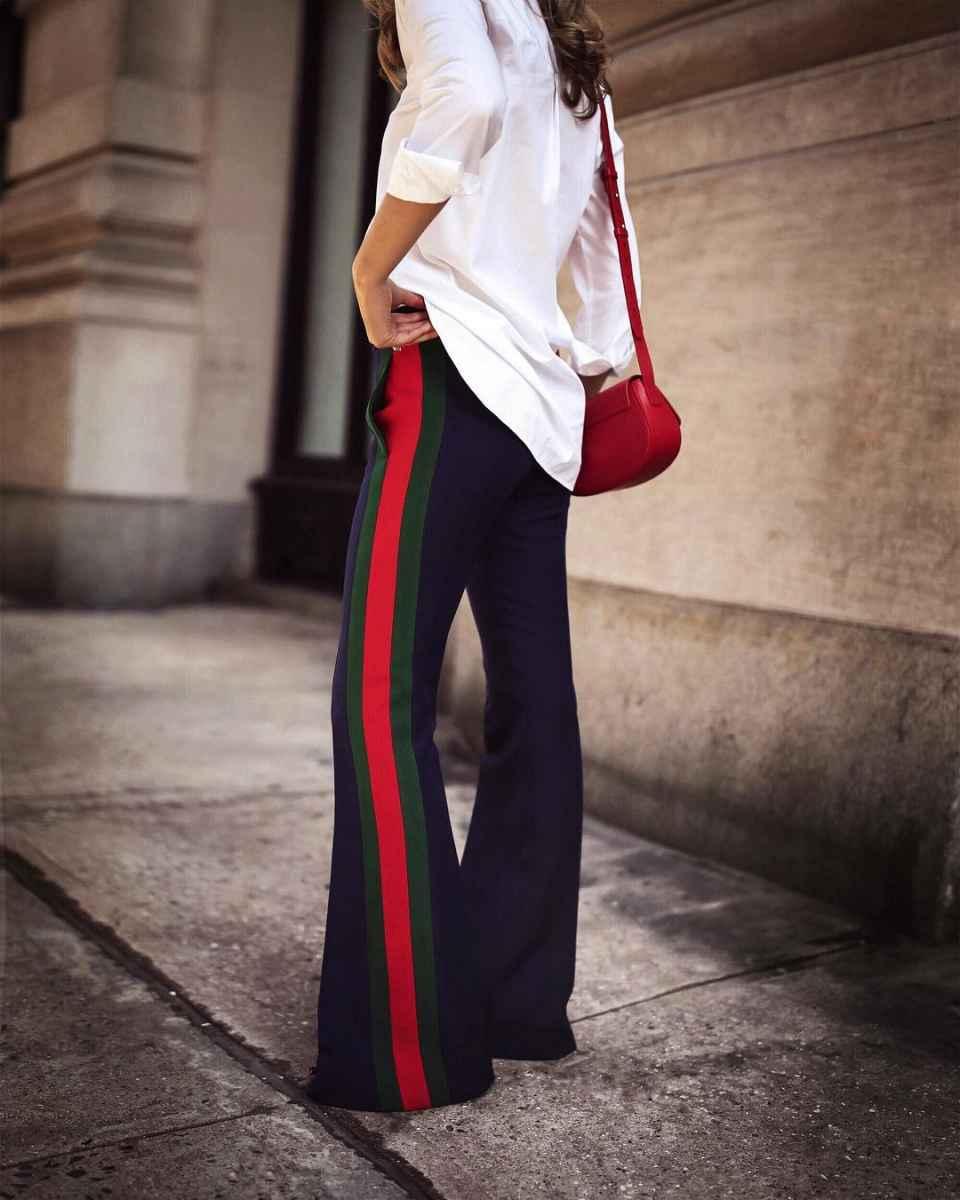 С чем носить брюки с лампасами фото_27