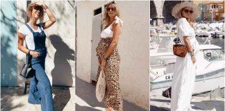 Модные летние луки для беременных фото