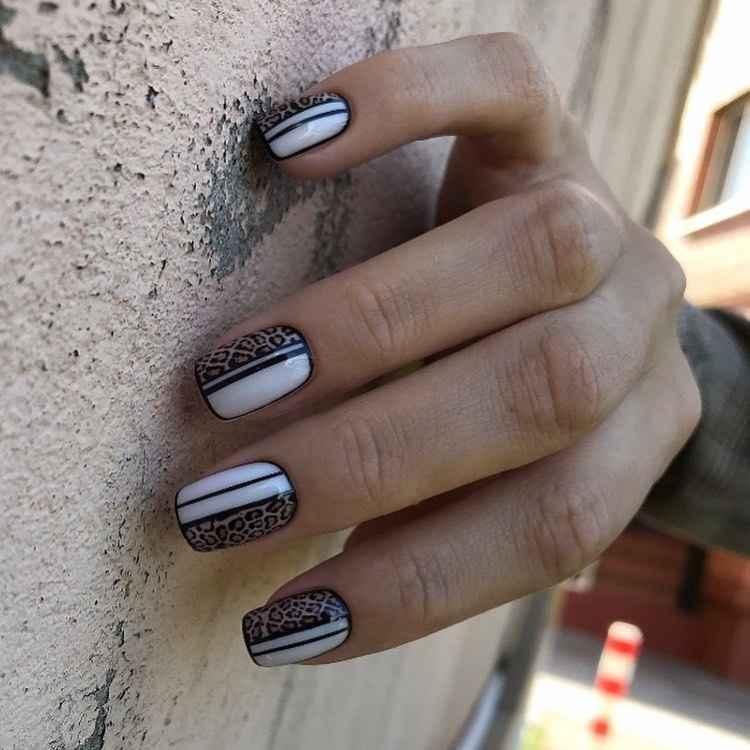 Необычный маникюр на короткие ногти фото_19