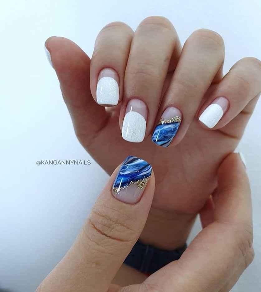 Море на ногтях фото_3
