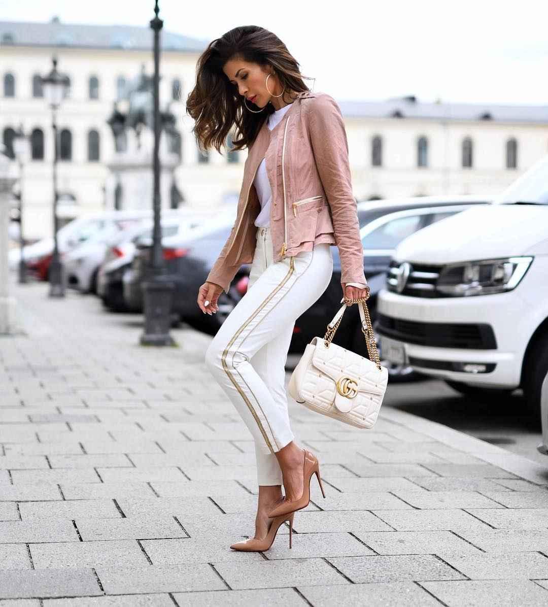 С чем носить брюки с лампасами фото_16