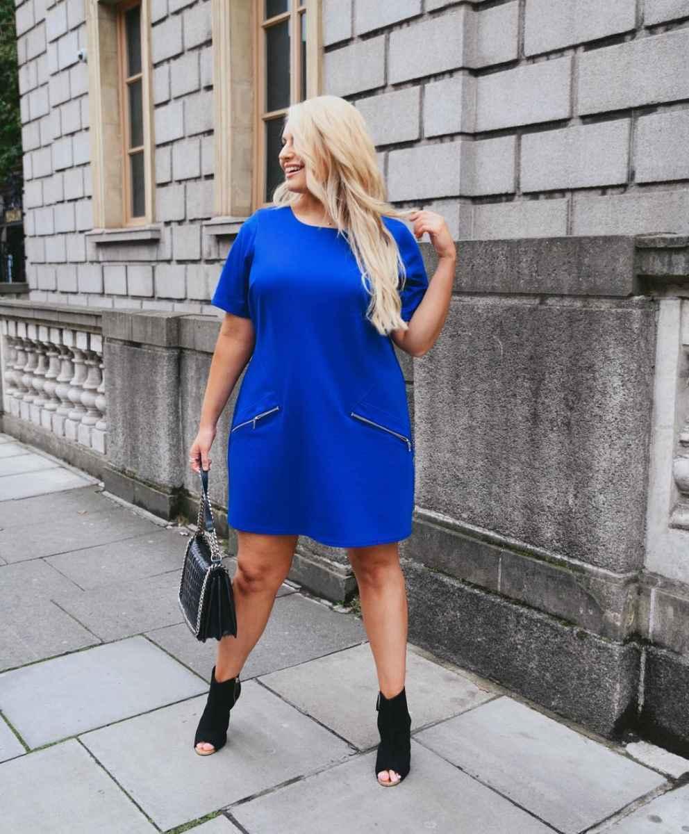 Деловые платья для полных женщин фото_14