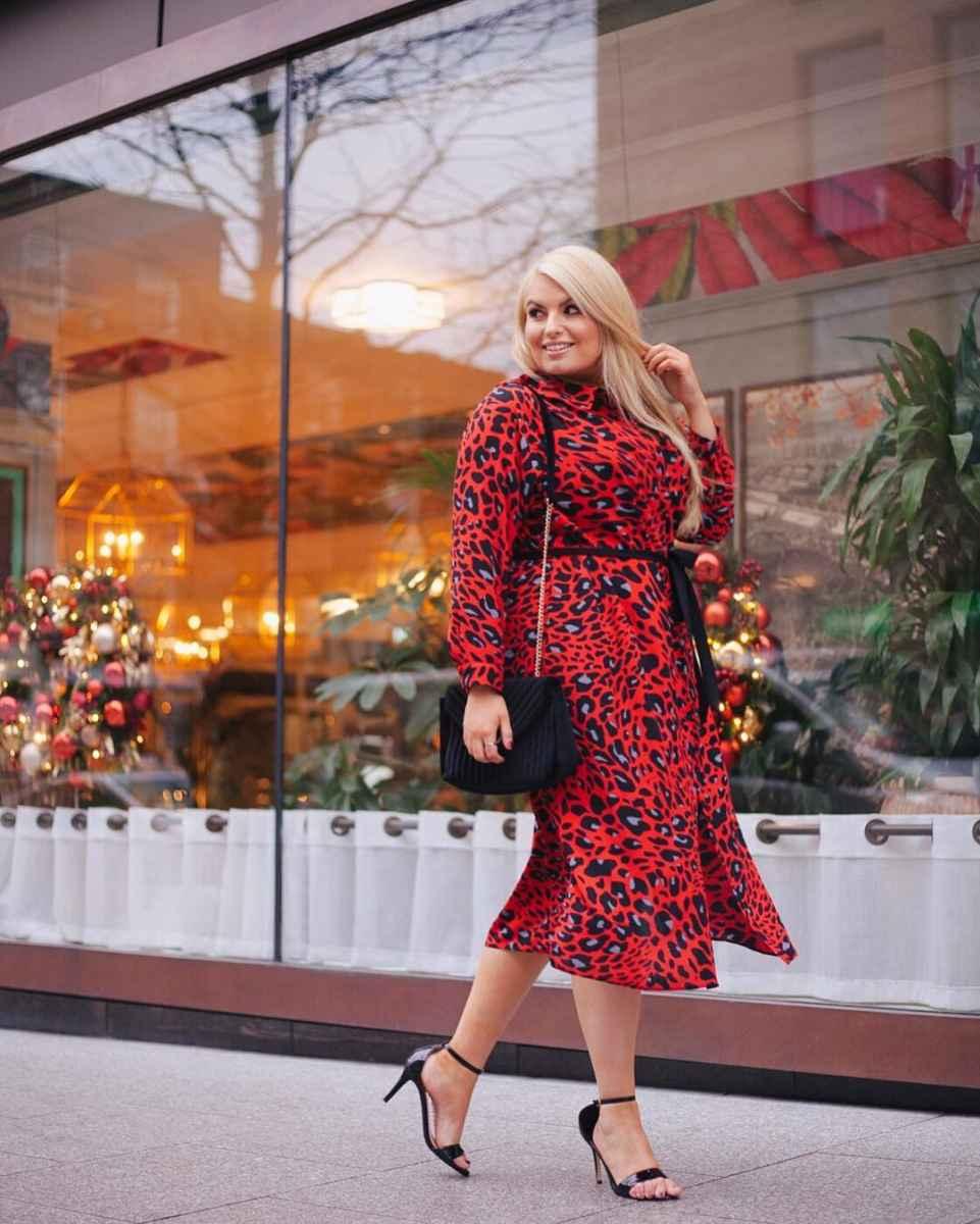 Деловые платья для полных женщин фото_11