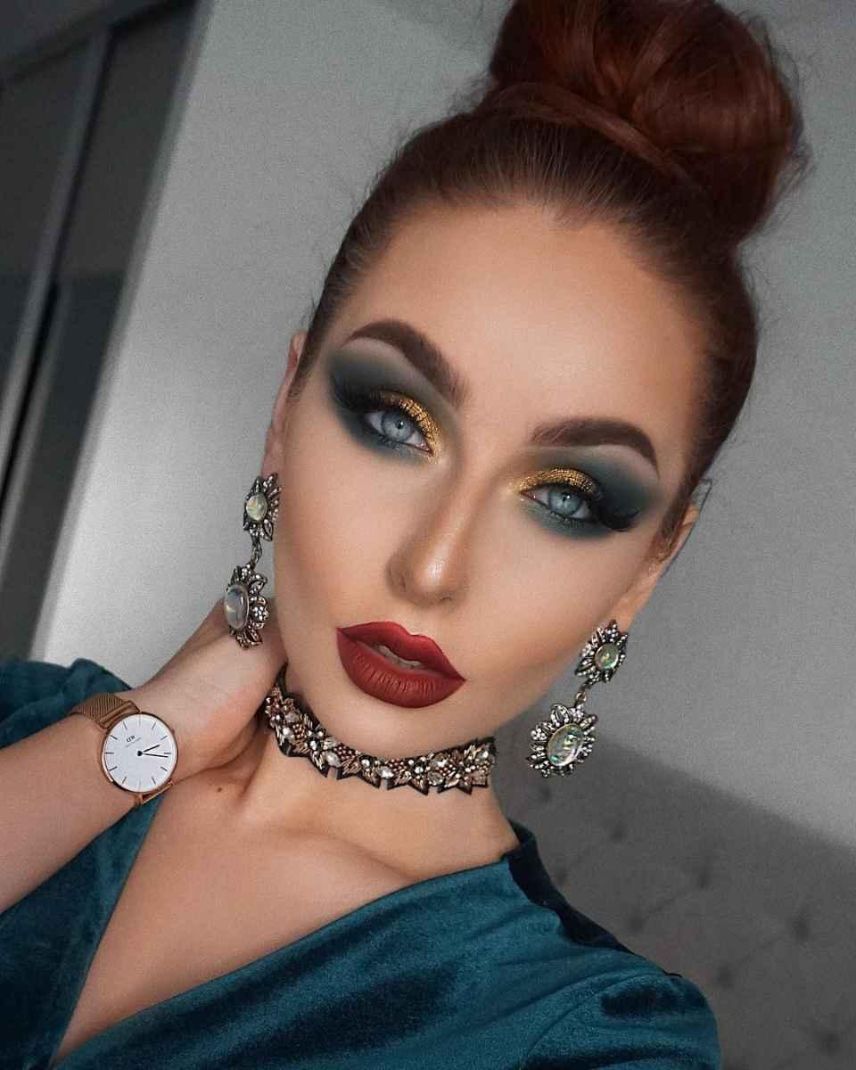 Самый красивый осенний макияж фото_8