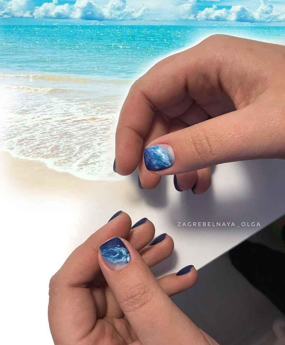 Море на ногтях фото_40