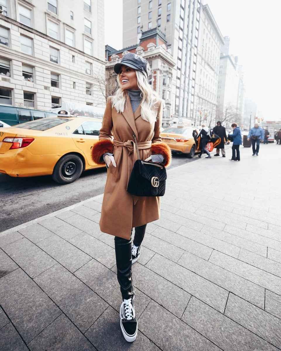 Модные женские луки осень-зима 2019-2020 фото_71