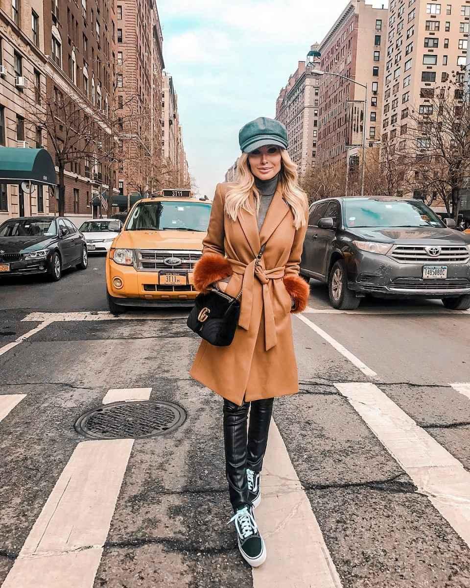 Модные женские луки осень-зима 2019-2020 фото_66