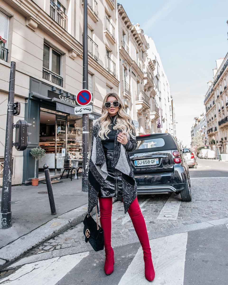 Модные женские луки осень-зима 2019-2020 фото_63