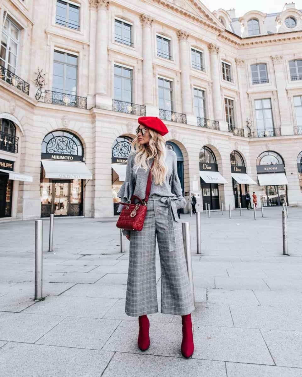 Модные женские луки осень-зима 2019-2020 фото_62