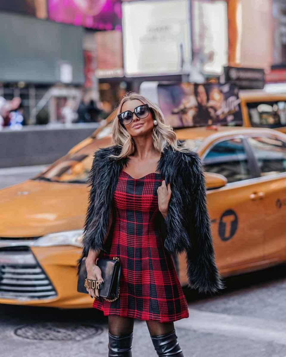 Модные женские луки осень-зима 2019-2020 фото_54