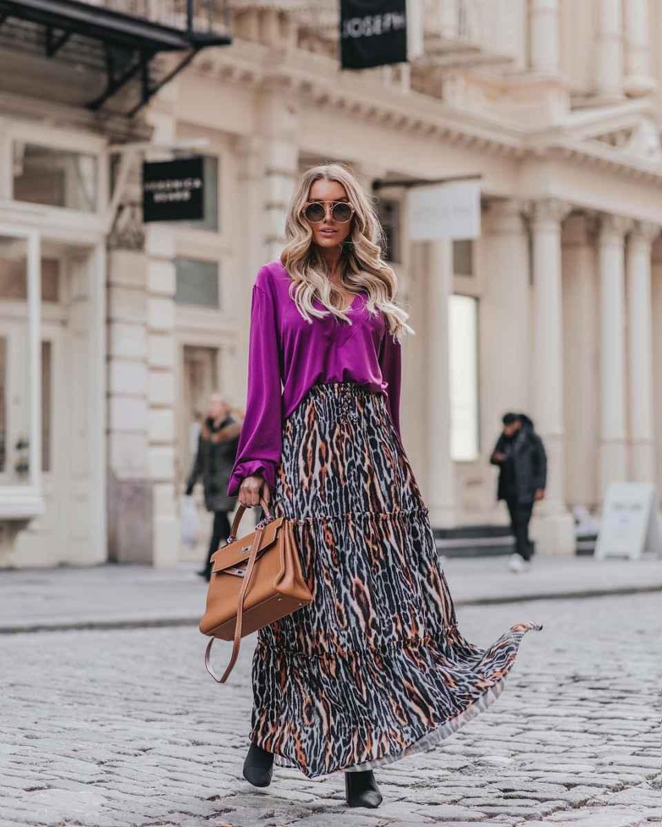 Модные женские луки осень-зима 2019-2020 фото_53