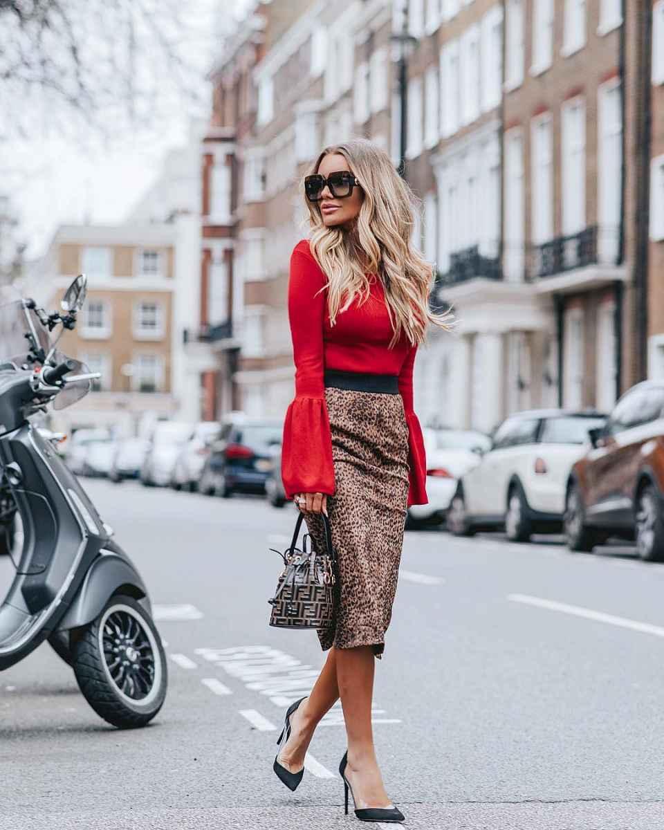 Модные женские луки осень-зима 2019-2020 фото_45