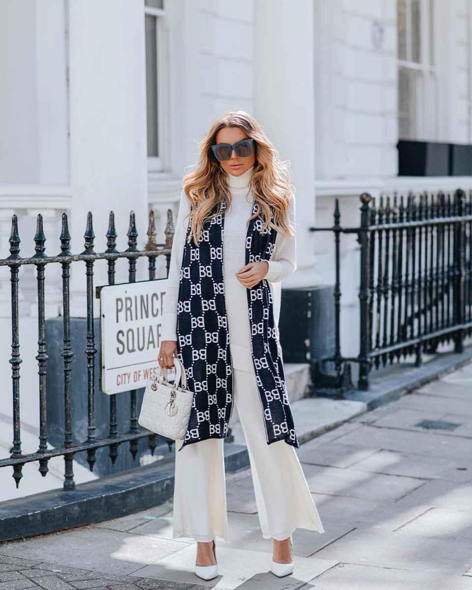 Модные женские луки осень-зима 2019-2020 фото_43
