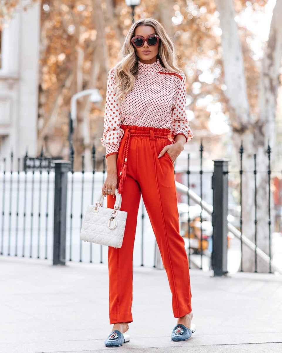 Модные женские луки осень-зима 2019-2020 фото_39