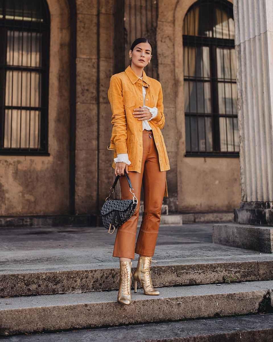 Модные женские луки осень-зима 2019-2020 фото_94