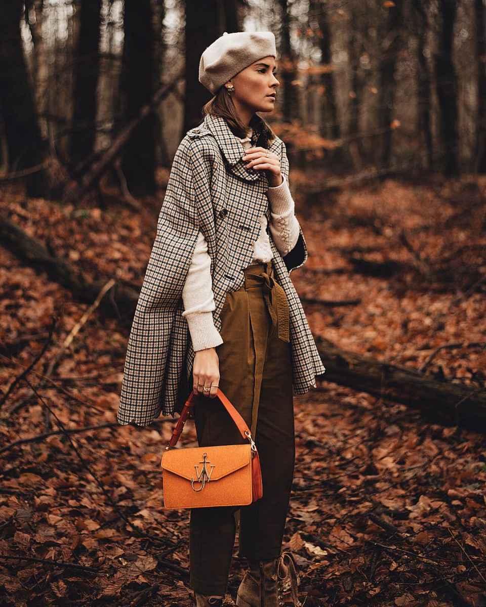 Модные женские луки осень-зима 2019-2020 фото_92