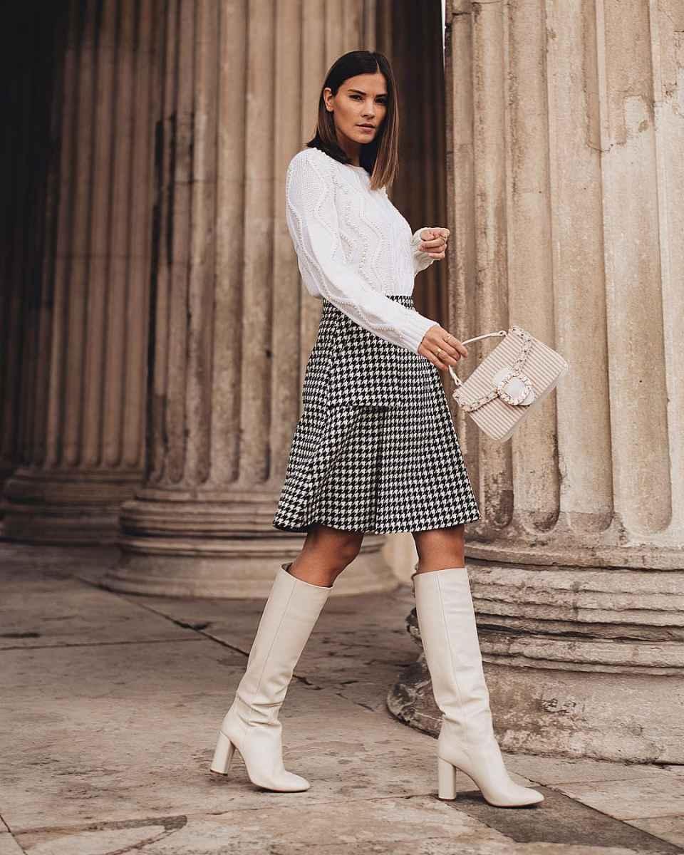 Модные женские луки осень-зима 2019-2020 фото_90
