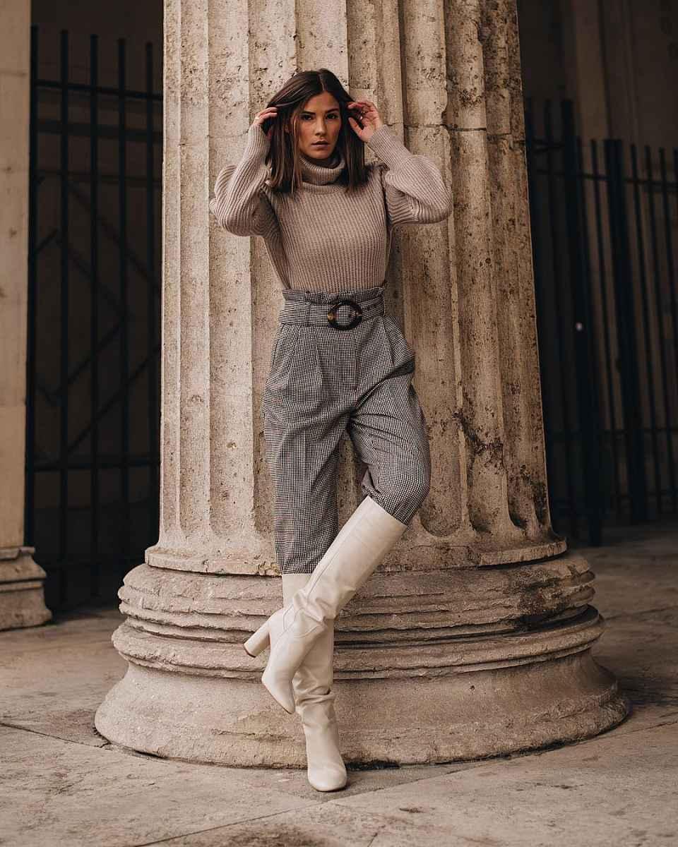 Модные женские луки осень-зима 2019-2020 фото_89