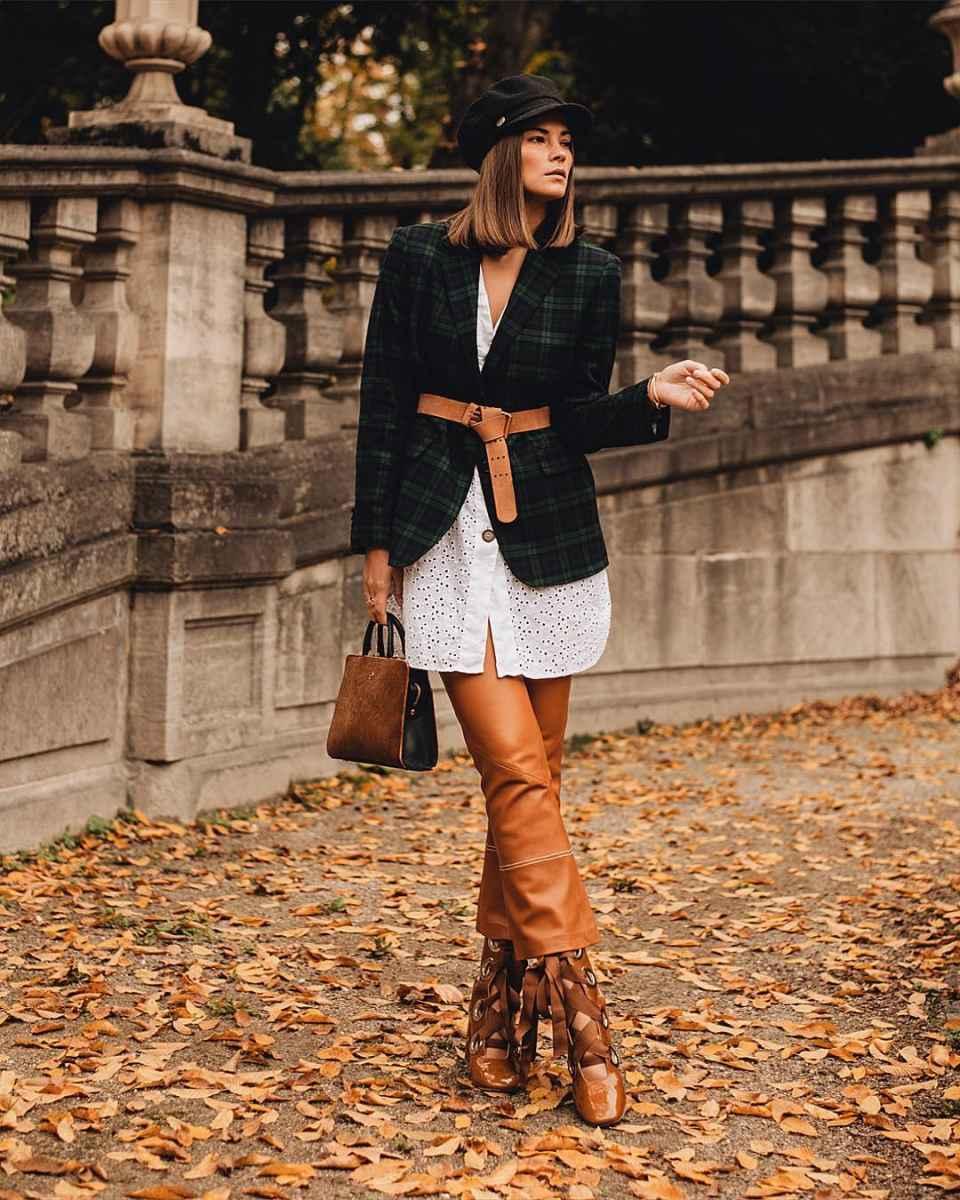 Модные женские луки осень-зима 2019-2020 фото_87