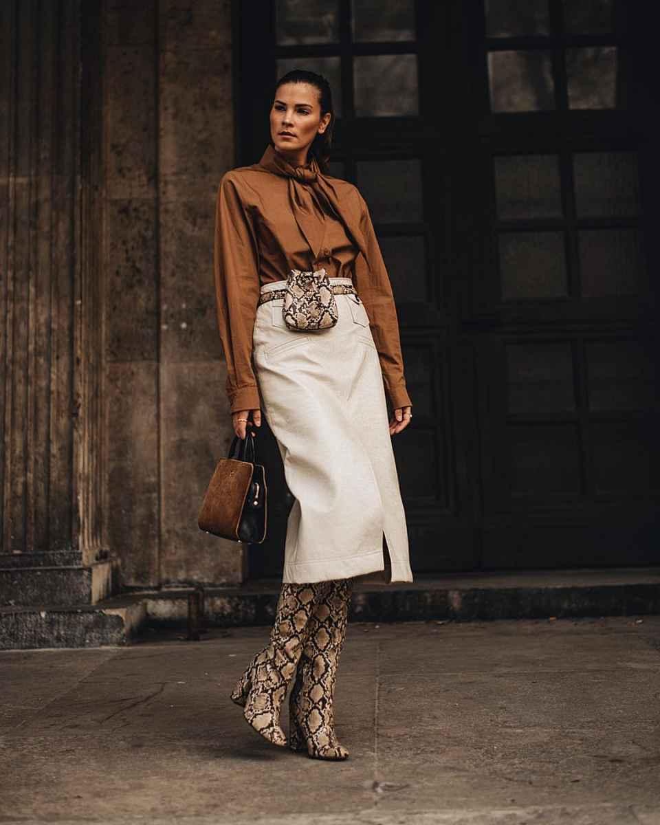 Модные женские луки осень-зима 2019-2020 фото_82
