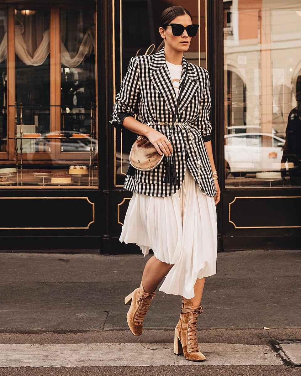 Модные женские луки осень-зима 2019-2020 фото_81