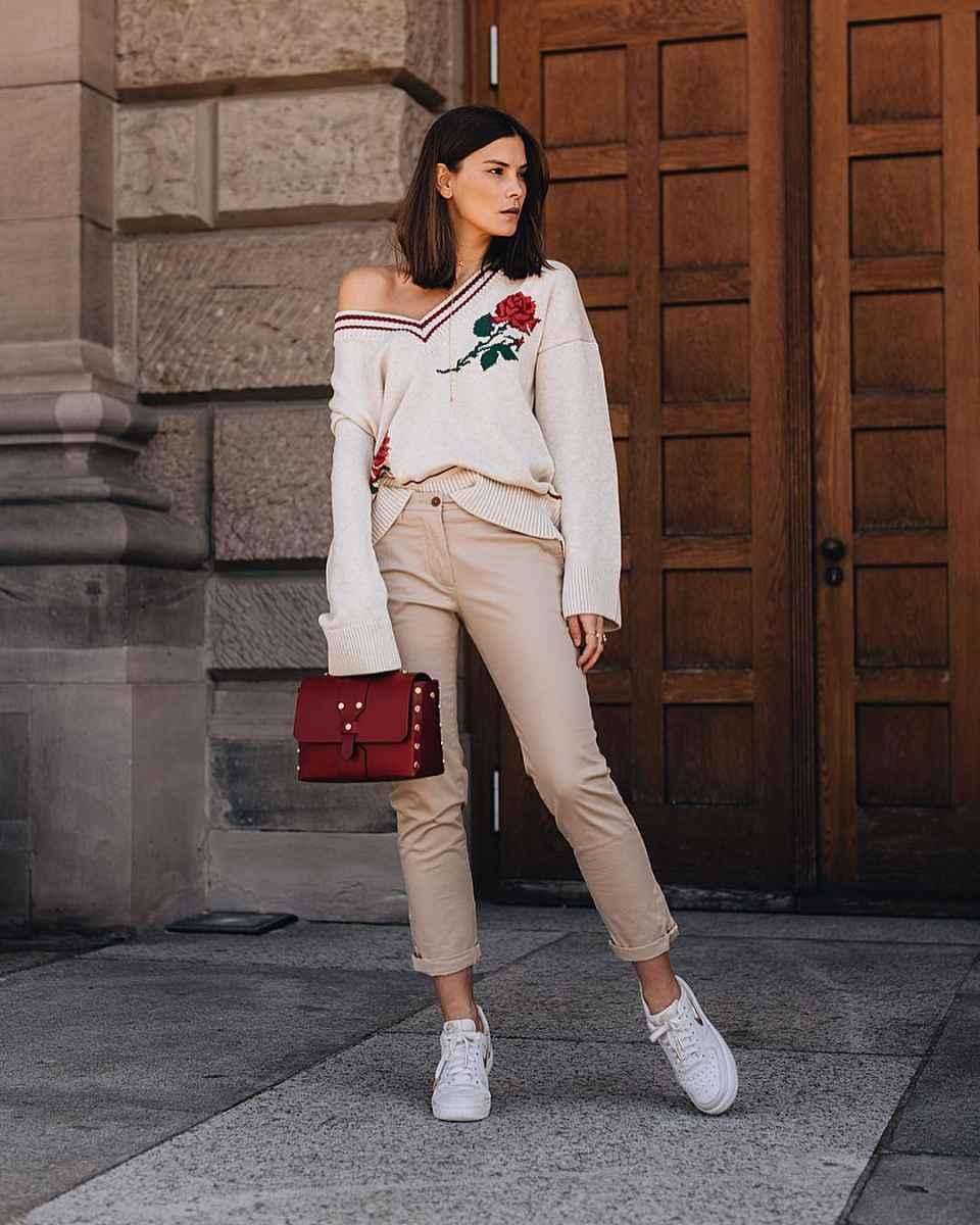 Модные женские луки осень-зима 2019-2020 фото_80