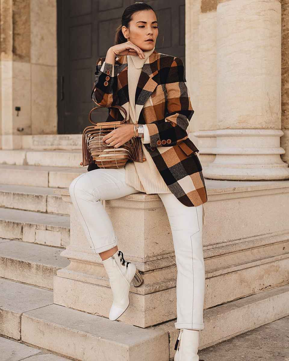 Модные женские луки осень-зима 2019-2020 фото_79