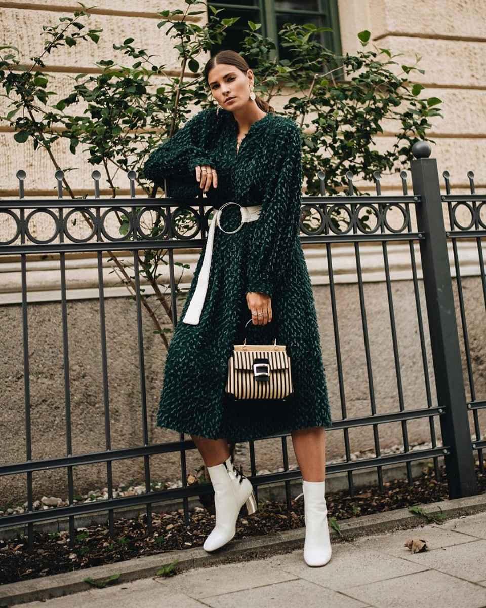 Модные женские луки осень-зима 2019-2020 фото_73