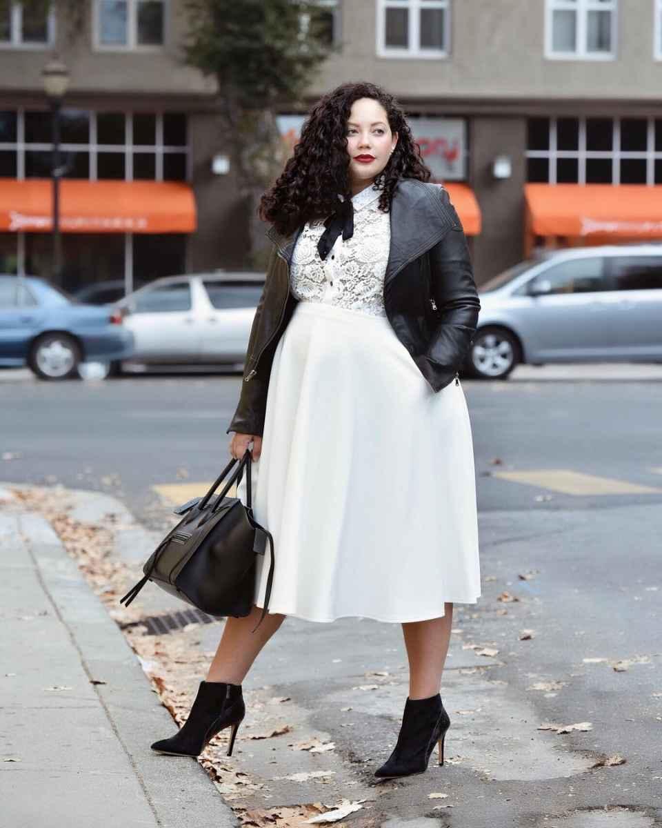 Модная верхняя одежда для полных женщин осень-зима 2019-2020 фото_36